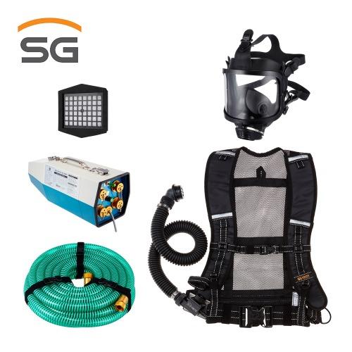 SG 송기마스크 HM5000/4E 1인~4인용 전동 송풍기형 SET